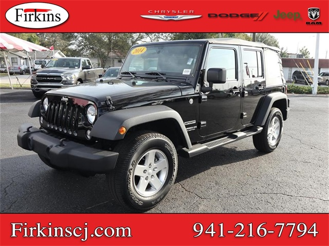 Pre-Owned 2014 Jeep Wrangler Unlimited Sport 4x4